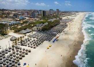 Vista aérea - Crocobeach Fortaleza