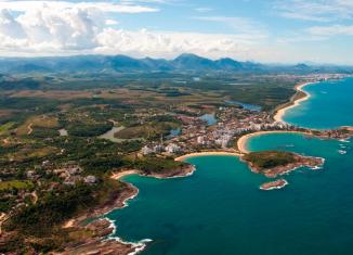 Vista aérea das Praias de Guarapari - Espírito Santo