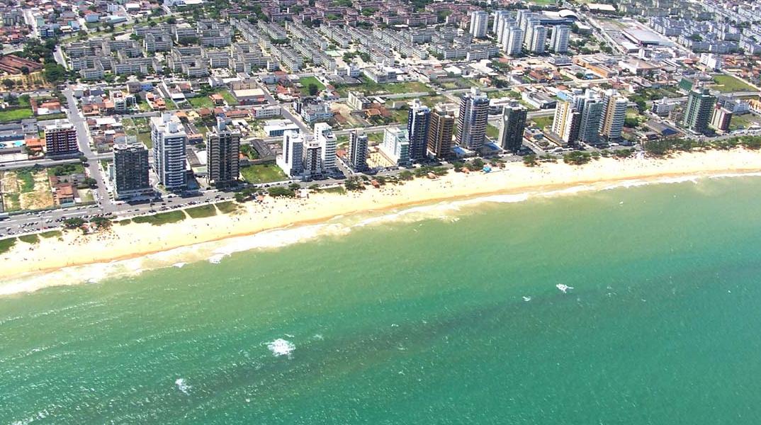 Mar esverdeado das Praias de Vila Velha – Espírito Santo