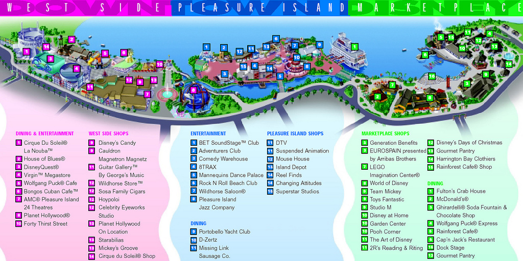 Mapa - Onde fica a Disney