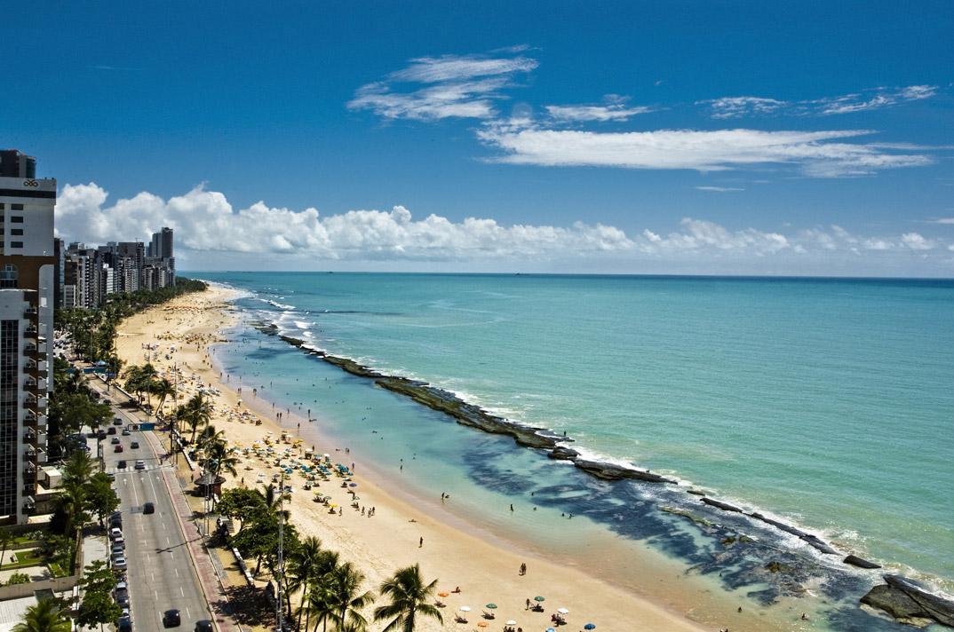 Praia de Boa viagem - Recife - Pernambuco - por ecopassaporte
