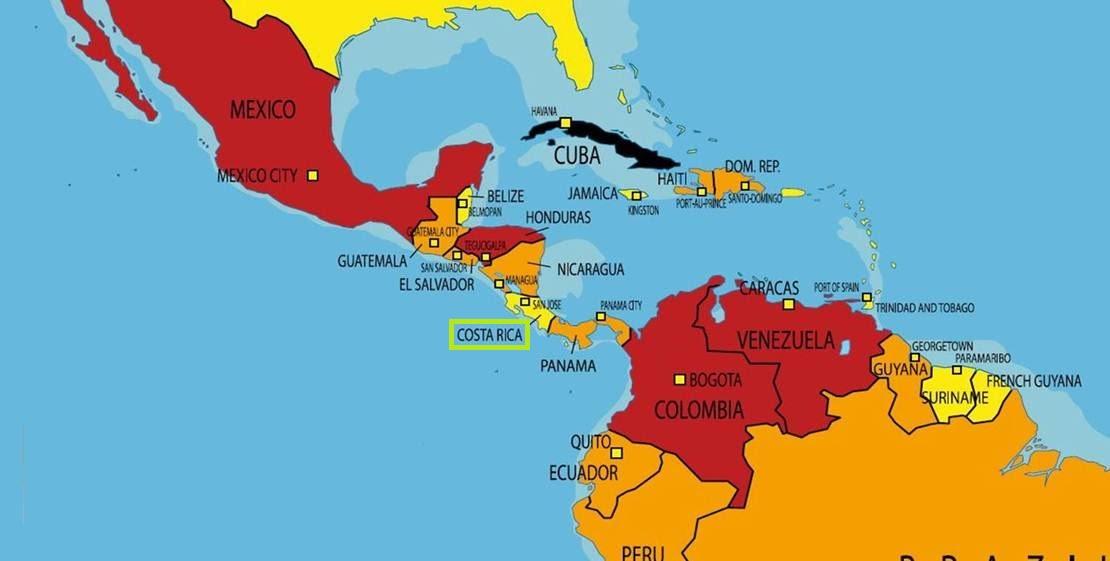 costa rica mapa mundi Onde fica a Costa Rica – Melhores Praias do país | Loucos por  costa rica mapa mundi