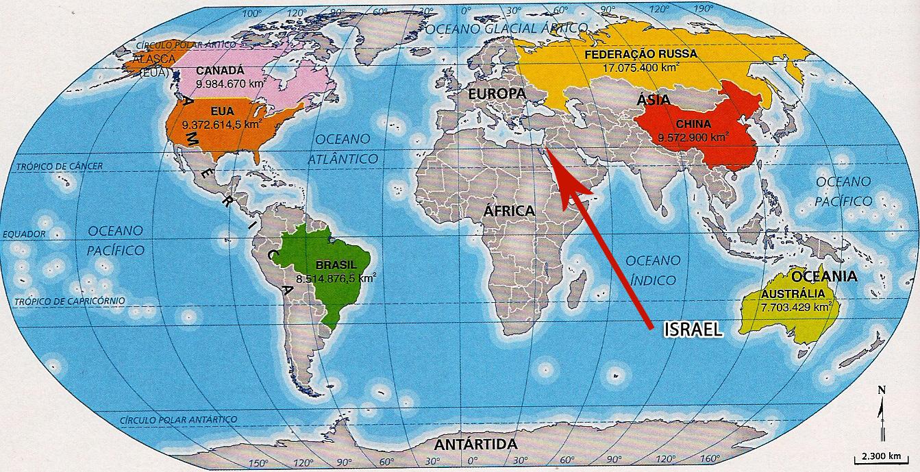 israel no mapa Onde Fica Israel (Fotos e Dicas Incríveis!) israel no mapa