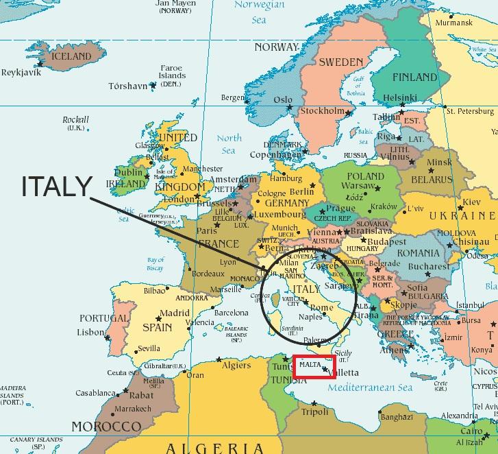 malta no mapa Onde Fica Malta (Fotos e Dicas Incríveis!) malta no mapa